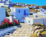 soleil de midi sur Mykonos, J.C.Quilici