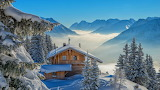 Chalet In the Snowy Mountains