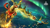 World of warship reindeer Santa from Aircraft carrier