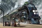 Steampunktrain by Ben Wootten