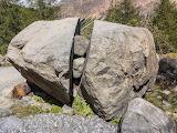 Stone split by frost