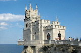 Swallow's Nest castle on the Aurora cliffs of cape Ai-Todor