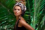 Girl-Beautiful woman in a turban with decor