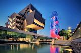 Dusk New Design Museum Barcelona Spain
