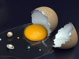 Egg Shell And Planets