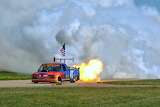 Air National Guard Jet Powered Truck at Oshkosh 2011