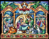 Stained-glass-nativity-Jesus-Mary-Joseph-religion