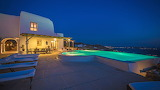 Pretty seaview villa, pool and terrace at night