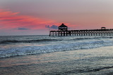 Sunset at pier Folly Beach South Carolina