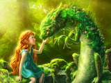 #Little Girl and Dragon Fantasy