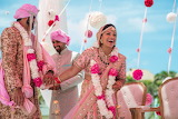 Indian wedding, beautiful couple, traditional clothes, happiness