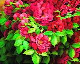 Red Digital Flowers