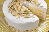 ^ White Cake with Lemon-Lime Curd Filling and Whipped Cream Fros