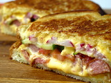 ^ American Grilled Cheese with Hotdogs and Asian Slaw