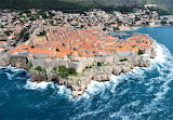 Dubrovnik Croatia city with defensive wall