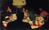 Félix Vallotton - Dinner by Lamplight, 1899