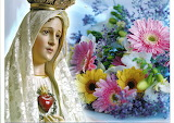 Virgin Mary-heart-flowers-religion