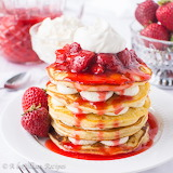 ^ Strawberry Cheesecake Pancakes