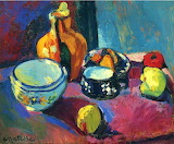 #Dishes and Fruit by Henri Matisse