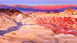 Colorful Zabriskie Point Death Valley California USA