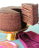12-layer chocolate cake