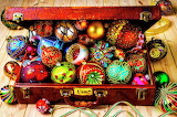 Suitcase full of Ornaments