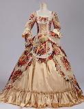 Jacquard Renaissance Victorian Dress