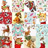 Christmas Animal Collage
