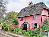 Red thatched cottage
