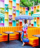 Over The Top Colorful Dining Patio