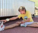 Sporty boy in adidas