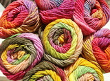 Ombre shades of yarn