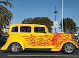 Ford Hot rod with flames
