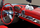 red convertible interior
