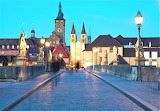 Bridge at night Wurzberg Germany