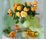Yellow-roses-still-life