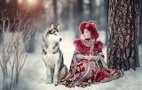 Nature, dog, girl