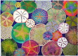 Sand dollar spectrum, Betty Busby fibre art