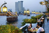 Dining water front chao phraya river Thailand