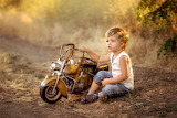 Toy, boy, baby, motorcycle, child, nature