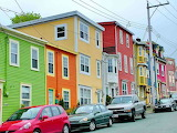 Colorful houses St.-Johns Canada