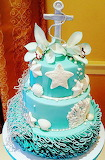 Beach wedding cake @Renee's Gourmet Cakes