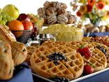 ^ Breakfast buffet