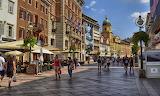 Croatia, Rijeka, Korzo promenade
