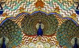 Detail, Peacock Gate. City Palace, Jaipur