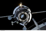Russian Module approaches the ISS