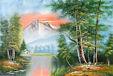 3-Scenic-Mountain-Afterglow-Bob-Ross-freehand-landscapes