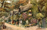 Thatched Cottages, Blackpool Sands ~ Alfred Robert Quinton