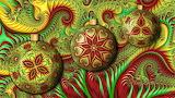 Fractal Christmas ornaments