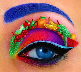 ☺♥ Colorful eye makeup art ...